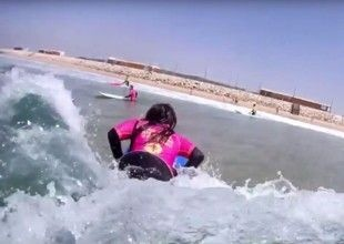 Surf lessons with discount to Egas Moniz students